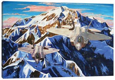 Denali F22 Rapture Canvas Art Print
