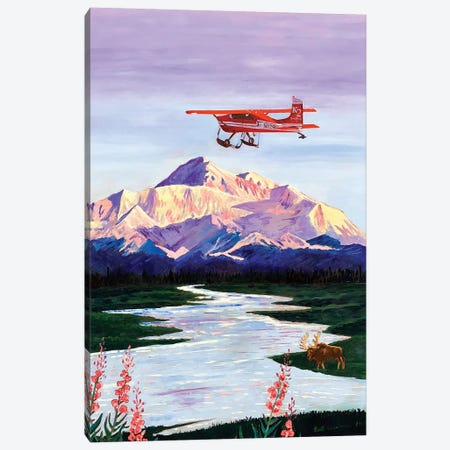 Denali Sunrise Canvas Print #SCD19} by Scott Clendaniel Canvas Artwork