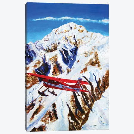 Flight Around Denali Canvas Print #SCD21} by Scott Clendaniel Canvas Art Print