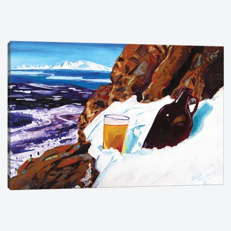Homebrew On Flat Top Canvas Print #SCD23} by Scott Clendaniel Canvas Print