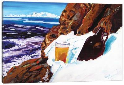 Homebrew On Flat Top Canvas Art Print