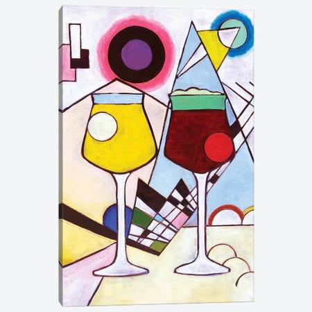 Kandinsky Teku Glasses 3-Piece Canvas #SCD27} by Scott Clendaniel Canvas Wall Art