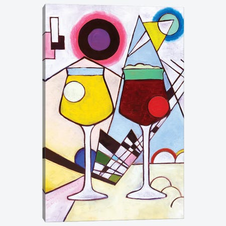 Kandinsky Teku Glasses Canvas Print #SCD27} by Scott Clendaniel Canvas Wall Art