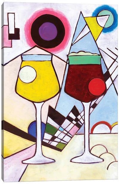 Kandinsky Teku Glasses Canvas Art Print