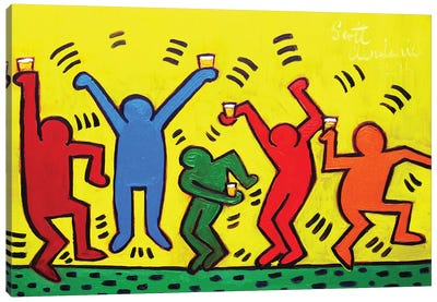 Keith Haring Party Canvas Art Print