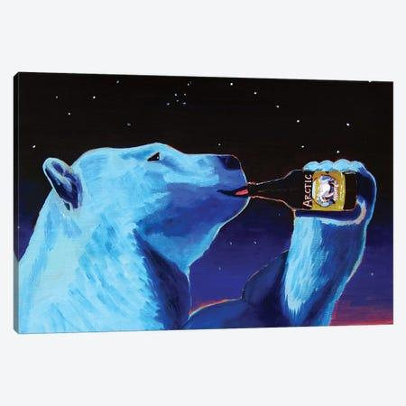 Arctic White Polar Bear Canvas Print #SCD2} by Scott Clendaniel Canvas Print