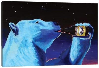 Arctic White Polar Bear Canvas Art Print