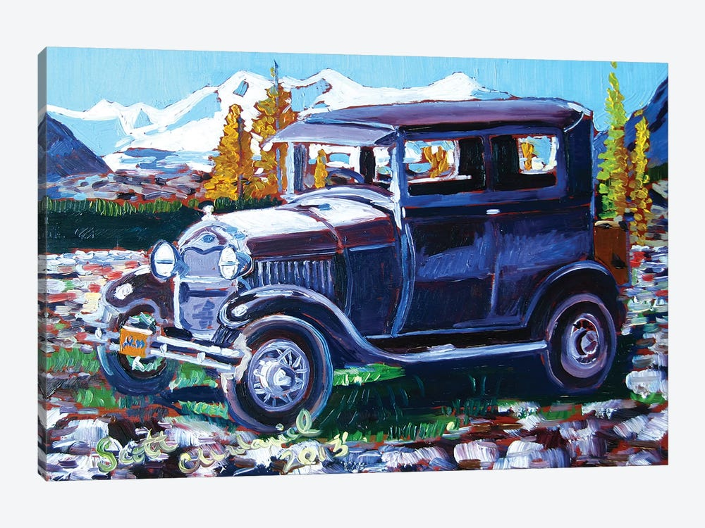 Model A Ford 1-piece Canvas Wall Art