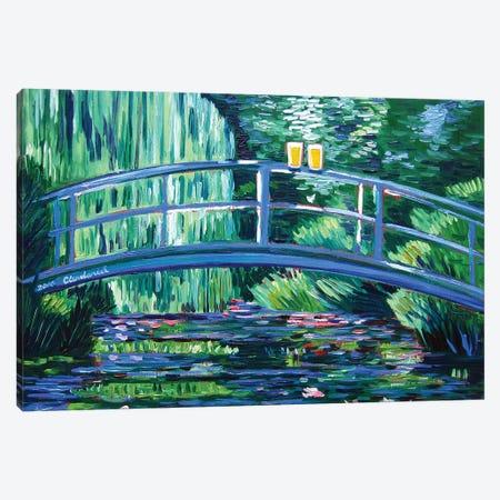 Monet's Beer Garden Canvas Print #SCD32} by Scott Clendaniel Canvas Artwork