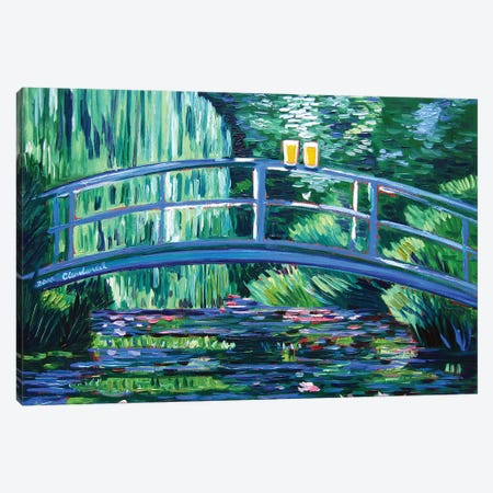 Monet's Beer Garden Canvas Print #SCD32} by Scott Clendaniel Canvas Artwork