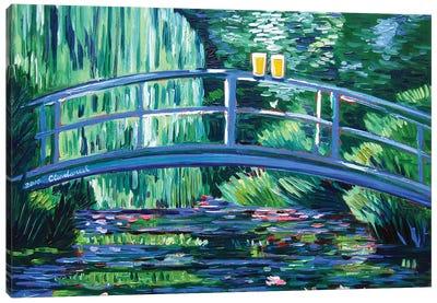 Monet's Beer Garden Canvas Art Print