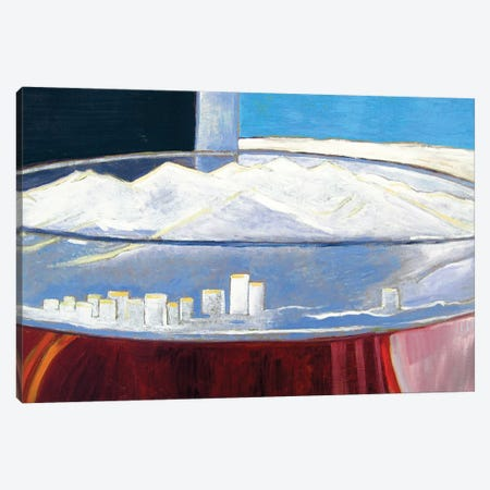 Pint With Anchorage Skyline Canvas Print #SCD34} by Scott Clendaniel Canvas Art Print