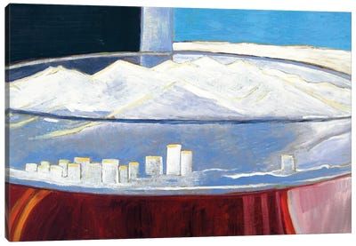Pint With Anchorage Skyline Canvas Art Print