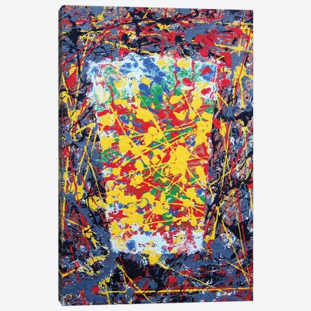 Pollock Pint Canvas Print #SCD35} by Scott Clendaniel Art Print
