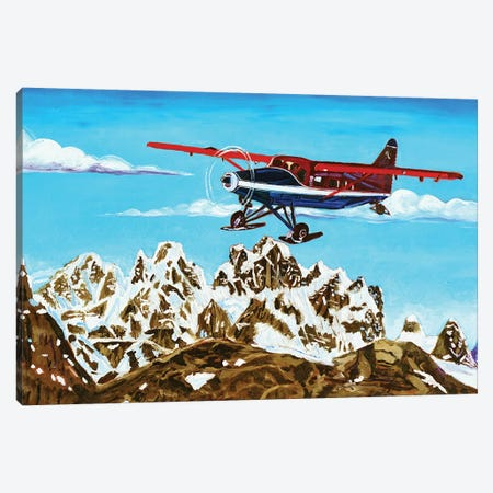 Ruth Glacier Landing Canvas Print #SCD38} by Scott Clendaniel Canvas Wall Art