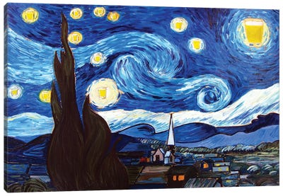 Starry Pint Canvas Art Print