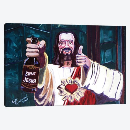 Sweet Jesus Canvas Print #SCD41} by Scott Clendaniel Canvas Print