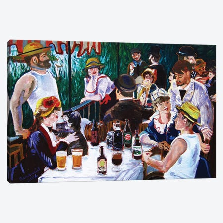 Tasting Of The Beer Party Canvas Print #SCD43} by Scott Clendaniel Canvas Print