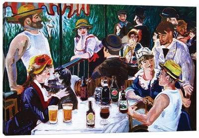 Tasting Of The Beer Party Canvas Art Print