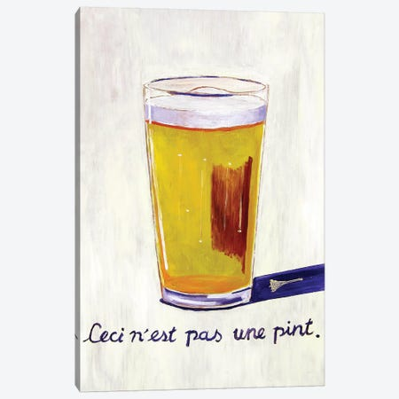 This Is Not A Pint Canvas Print #SCD49} by Scott Clendaniel Art Print