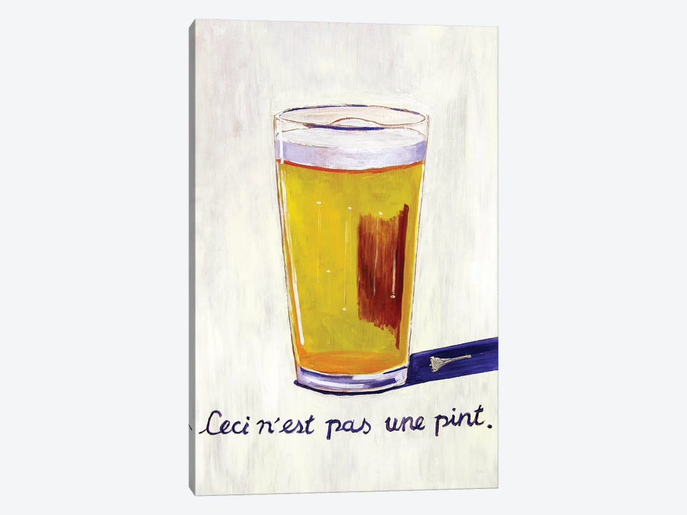 This Is Not A Pint 1-piece Canvas Art