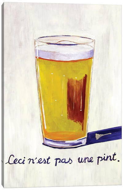 This Is Not A Pint Canvas Art Print