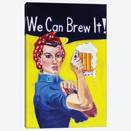We Can Brew It Canvas Print #SCD52} by Scott Clendaniel Canvas Wall Art
