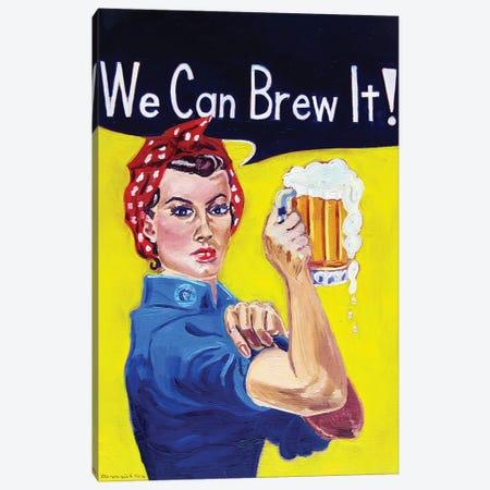 We Can Brew It Canvas Print #SCD52} by Scott Clendaniel Canvas Wall Art