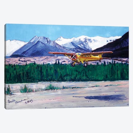 Wrangell Mountain Landing Canvas Print #SCD54} by Scott Clendaniel Canvas Art Print
