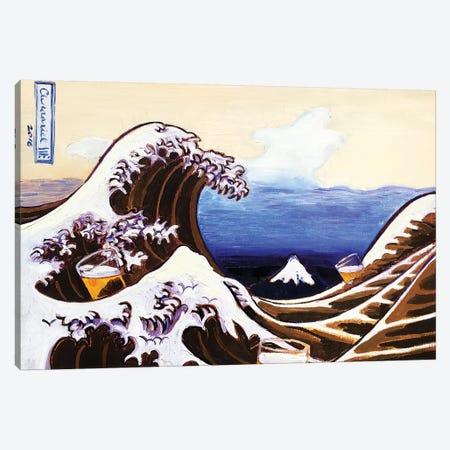 Beer Wave Canvas Print #SCD5} by Scott Clendaniel Canvas Art