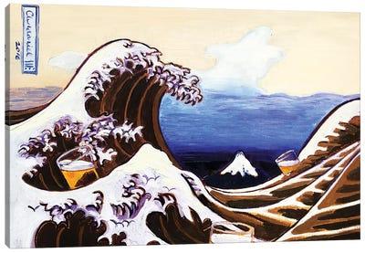 Beer Wave Canvas Art Print