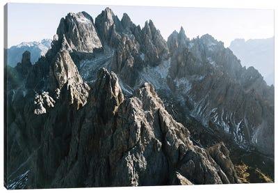 Dolomites Mountain Peaks On A Hazy Day Canvas Art Print