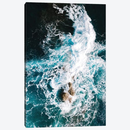 Waves Clashing Against A Rock In The Ocean Canvas Print #SCE111} by Michael Schauer Canvas Art