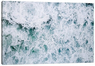 Abstract Splashing Water Waves In The Ocean Canvas Art Print