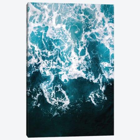 Blue Ocean Wave Network Canvas Print #SCE118} by Michael Schauer Canvas Art