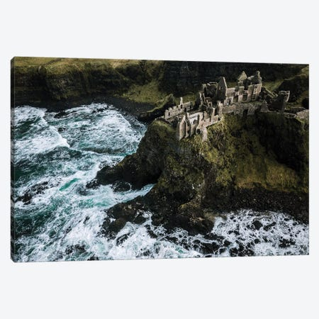 Castle Ruin By The Sea Canvas Print #SCE123} by Michael Schauer Canvas Art Print