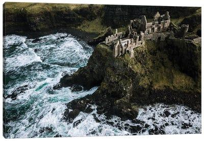 Castle Ruin By The Sea Canvas Art Print