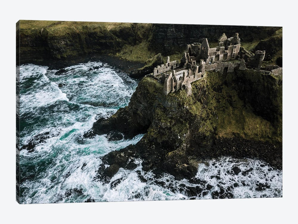 Castle Ruin By The Sea by Michael Schauer 1-piece Canvas Wall Art