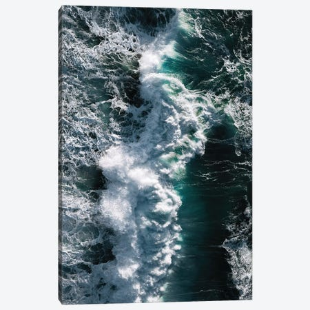 Crashing Wave In Ireland From Above Canvas Print #SCE124} by Michael Schauer Canvas Wall Art