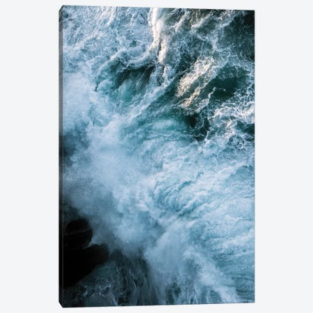 Crashing Waves In Ireland During Sunset From Above Canvas Print #SCE125} by Michael Schauer Canvas Art