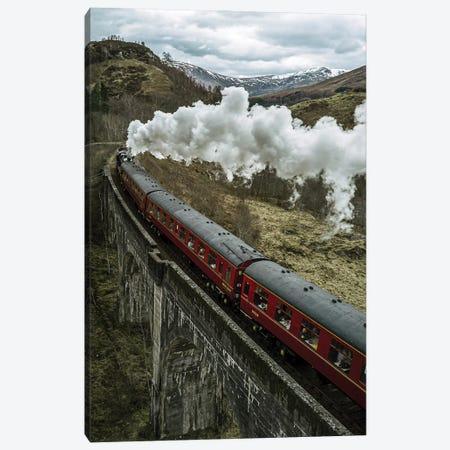 Magical Wizard Train In Scotland Canvas Print #SCE129} by Michael Schauer Canvas Art Print