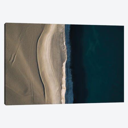 Footsteps In The Sand - Minimalist Beachside Canvas Print #SCE131} by Michael Schauer Canvas Artwork