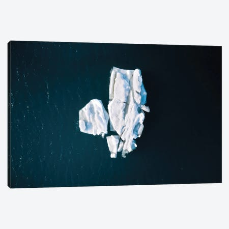 Minimal Iceberg In The Ocean Canvas Print #SCE136} by Michael Schauer Canvas Print