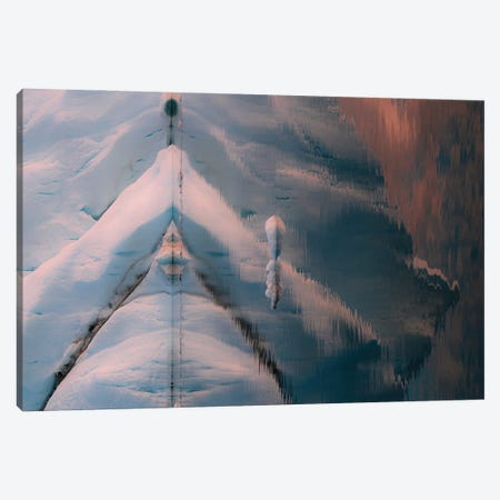 Reflection Of An Iceberg In Greenland During Sunset Canvas Print #SCE150} by Michael Schauer Canvas Wall Art