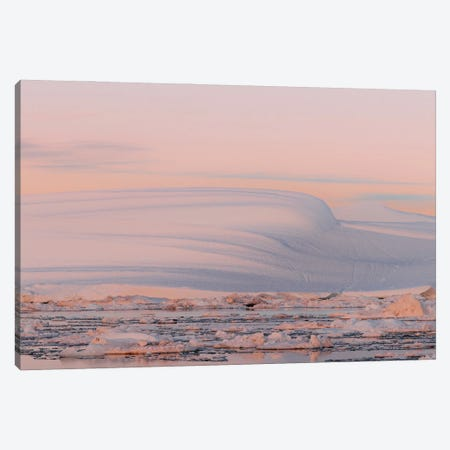 Smooth And Minimalist Iceberg In Greenland During Sunset Canvas Print #SCE151} by Michael Schauer Canvas Art