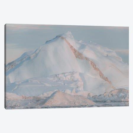 Iceberg In Warm Sunset Light Canvas Print #SCE152} by Michael Schauer Canvas Wall Art