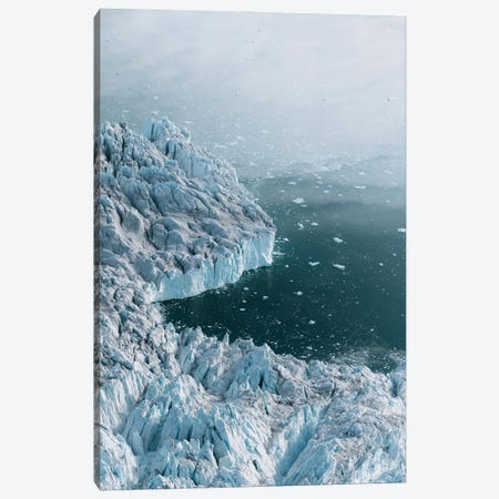 Moody And Hazy Greenland Glacier From Above Canvas Print #SCE155} by Michael Schauer Art Print