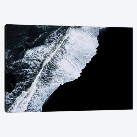 Crashing Wave In Iceland On A Black Sand Beach Canvas Print #SCE159} by Michael Schauer Canvas Artwork