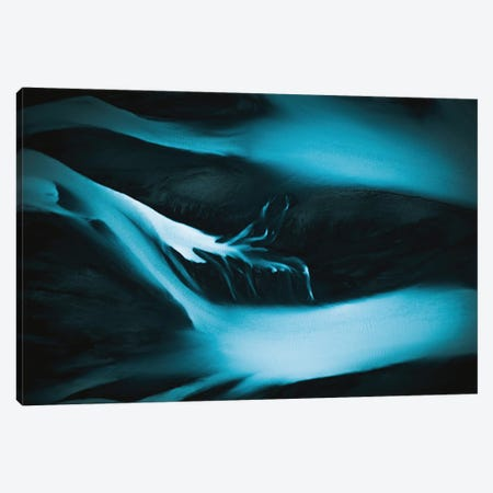 Minimalist And Abstract Blue River Veins In Iceland Canvas Print #SCE164} by Michael Schauer Canvas Wall Art