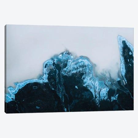 Milky Glacier Lake In Iceland Canvas Print #SCE165} by Michael Schauer Canvas Artwork